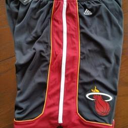Mens NBA Miami Heat adidas swingman Black shorts size XL FRE